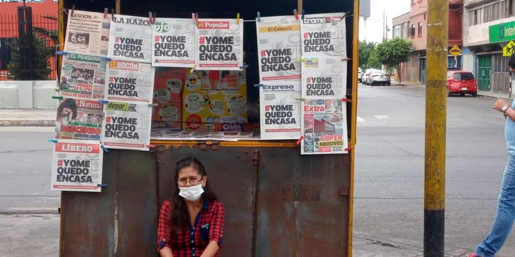 Los diarios peruanos publican la misma portada para frenar el coronavirus