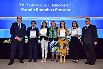 La Cámara de Comercio de Lima premió a cuatro periodistas